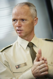 Major General Robert Mood, newly appointed head of the UN peacekeeping operation in the Middle East.