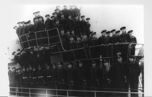 The crew on U-864, 60 years ago. Poto: Christian Klambauer