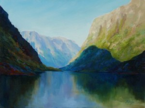 Nærøyfjord Approach, by Mirjam Ahladas