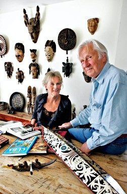 Artist Skule Waksvik and his wife Cathrine Stang. Photo: JORONN SAGEN ENGEN