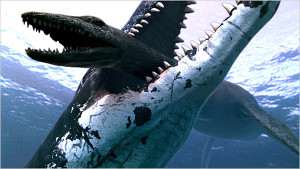 An illustration of a pliosaur, with its crushing bite force, on attack. Photo: Atlantic Productions