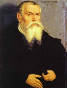 Portrait of Lucas Cranach the Elder.