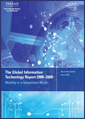 Networked Readiness Index 2008-2009. Photo: www.weforum.org.
