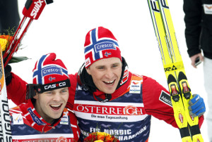 Johan Kjølstad (left) won, while Ola Vigen Hattestad won the B-finale. Photo: www.skiforbundet.no.
