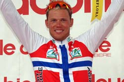 Hushovd in 2005. Photo www.thor-hushovd.com