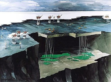 Illustration of Snorre , Vigdis , Tordis. Photo: StatoilHydro.