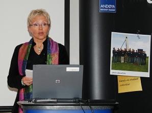The Norwegian Minister of Transport and Communication, Liv Signe Navarsete.