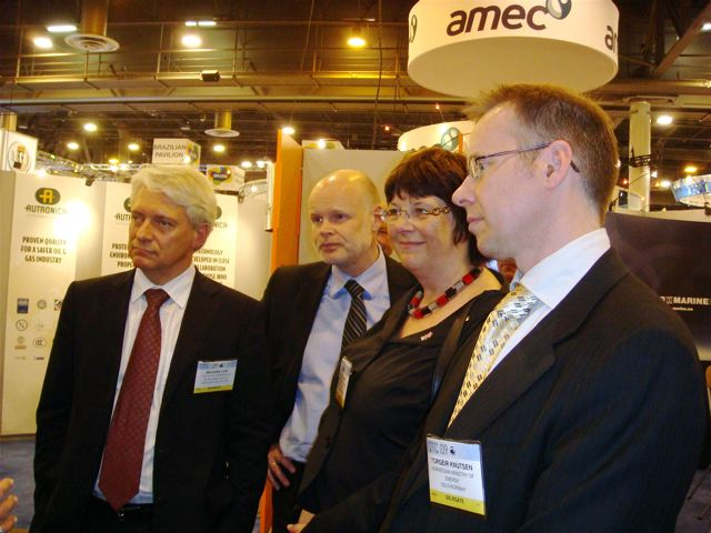Ambassador Strømmen, William Christensen (from Embassy in DC), Director General of NPD Bente Nyland and Torgeir Knutsen (Norwegian Ministry of Petroleum and Energy)