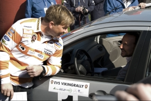 The Crown Prince took the drivers seat on the first leg of the EVS Viking Rally