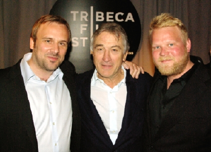 From Left: Director Rune Denstad Langlo, Actor Robert De Niro (one of Tribeca Film Festival's Founders) and Actor Anders Baasmo Christiansen. Photo by Erland Haugen/Norwegian Consulate General, New York.