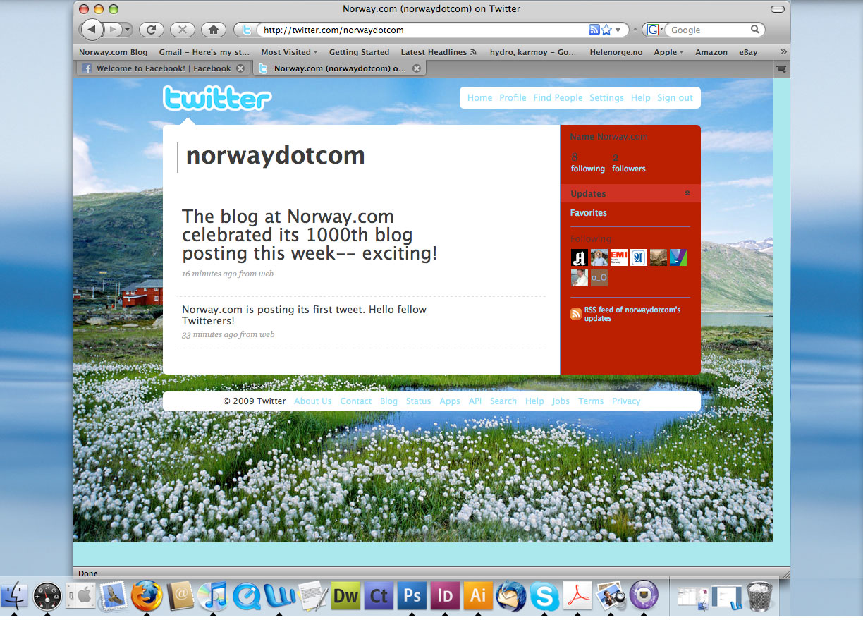 Norway.com is now on Twitter! Visit us at http://www.twitter.com/norwaydotcom