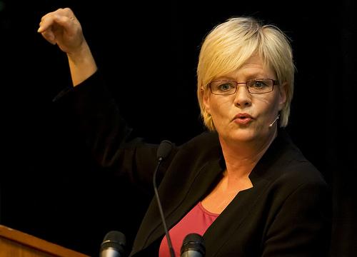 The Norwegian Minister of Finance, Kristin Halvorsen. Photo: www.flickr.com
