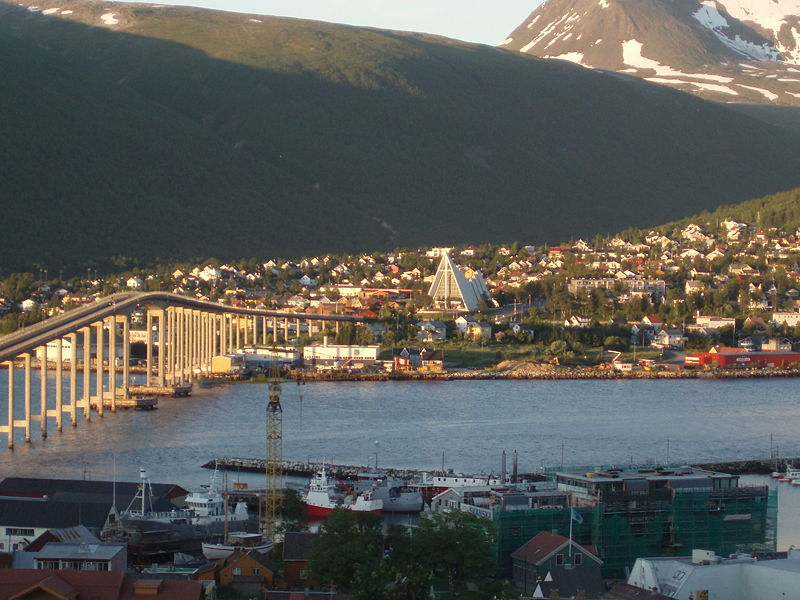 Tromsø in the Midnight Sun.