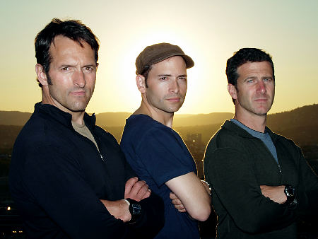 """HE WANTED -- Pictured: (l-r) Members of """"The Wanted"""" team Roger Carstens, Adam Ciralski and Scott Tyler -- Photo: Echo Ops Productions LLC"""