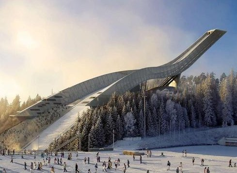 In February 2010, the lights will be switched on at the new Holmenkollen ski jump.Photo: www.oslo2011.no