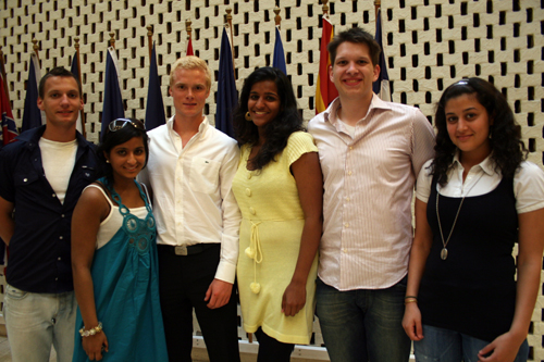 2009 Summer Institute participants from left to right, Knut Ulsrud, Dipali Gulati, Mats Stensrud, Rosilin Varughese, Olav Furset, and Sara Al Ali.
