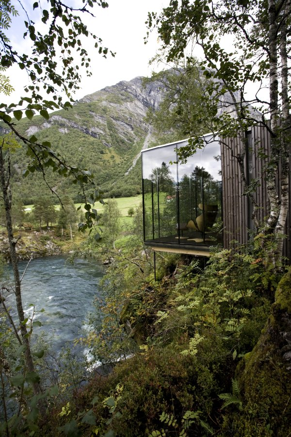 Juvet landscape hotel. Photo courtesy of Jensen & Skodvin Architects.