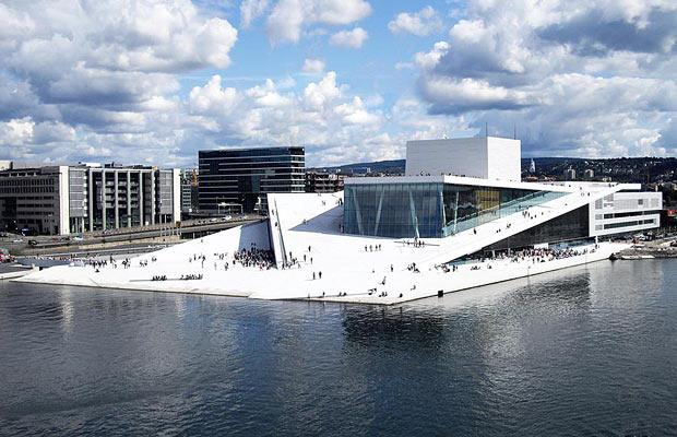 The Norwegian Opera and Ballet, designed by Snøhetta