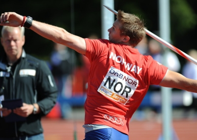 Norway's Andreas Thorkildsen, competing here in Bergen in June, is set to return to the city next year after it was awarded the right to host the 2010 SPAR European Team Championships. Photo: www.european-athletics.org,