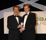 Regional manager Ioannis Kourmatzis received the award at the ceremony in London from Alastair Campbell, Tony Blair's former media advisor.