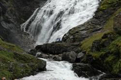 The waterfall Kjosfossen at the Flåm line. Photo: Njål Svingheim