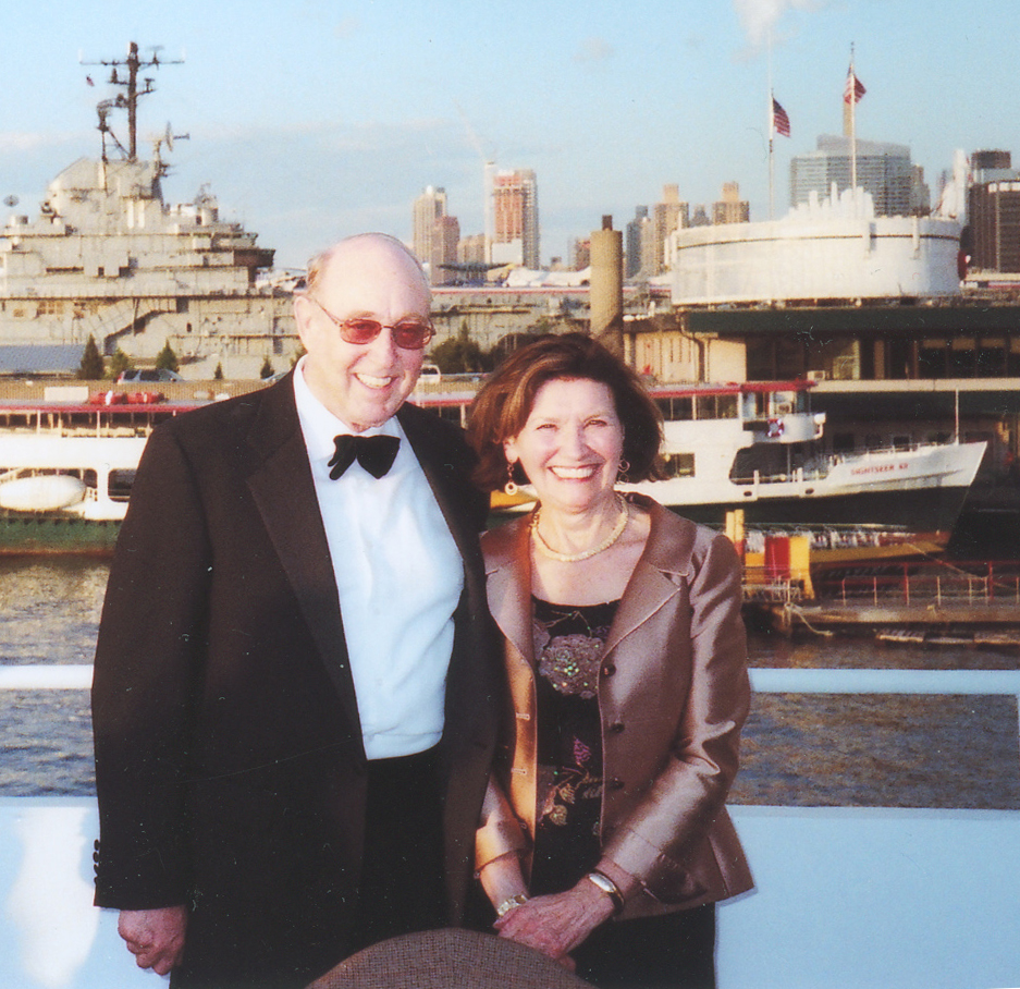 Per and Berit Brevig smile aboard the New York yacht as they set sail on a Hudson River cruise in honor of their 50th wedding anniversary. Photo: Donald Mehus