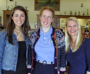 Haley, Hannah, and Heidi. Photo courtesy of Leif Erikson Lodge.