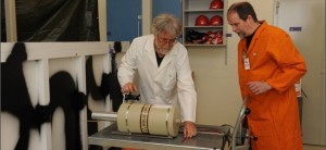 A verification exercise took place at the mock-up nuclear weapon dismantlement facility in Norway in June 2009