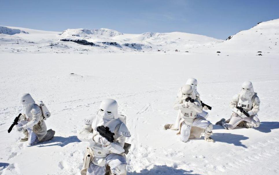 Stormtroops at Finse Norway (Photo: Eirik Brekke)