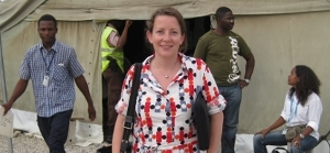 Julie M. Jacobsen Takahashi in Haiti. Photo: Ministry of Foreign Affairs