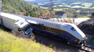 Hit by train: The driver of the truck died in the accident. Photo: Other Nordsletten Storhaug
