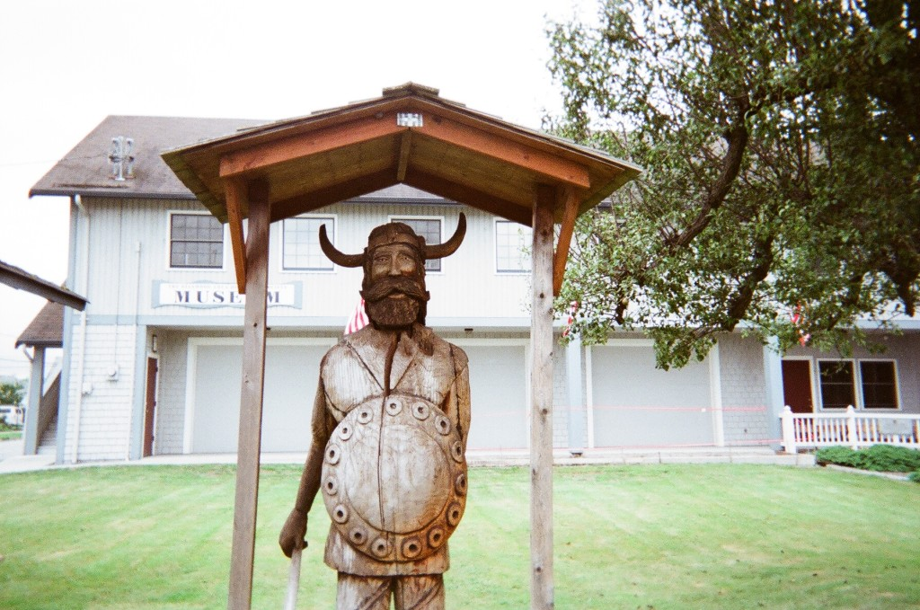 Signs and monuments to Stanwood's rich Norwegian heritage can be found throughout the town.  Photo: Melinda Bargreen