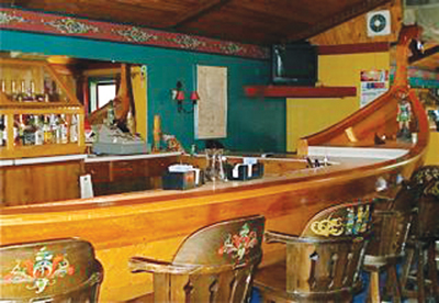 Another view of the Viking Ship Bar. Photo: Land of the Vikings
