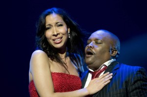 Porgy and Bess (Nicole Cabell Fikile and Mvinjelwa) at Operahuset in Oslo (Photo Erik Berg).