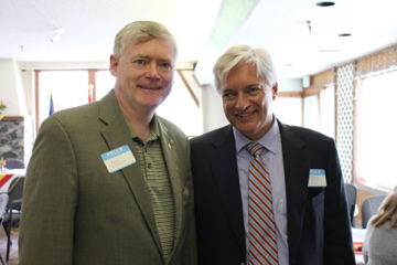 Alaska's Lt. Gov. Mead Treadwell (left) with Norwegian Ambassador Wegger Chr. Strømmen. Photo: NAW