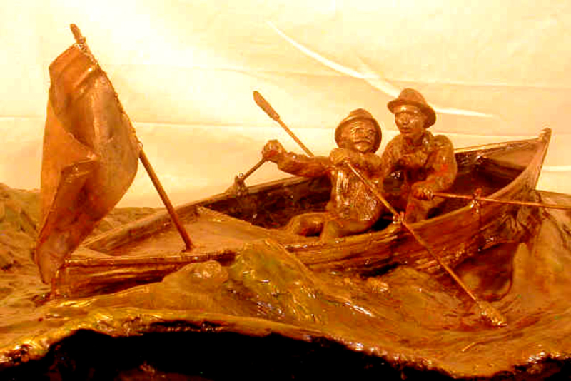"""The Voyage of the Fox,"" sculpture depicted here is the work of the article's author, Bill Osmundsen. The prototype was created as a model for a bronze monument to be placed in New York and Norway. Further information about this project can be obtained by visiting the artist's web site:-http://BronzeSea.org/FoxSculpture.aspx, or by contacting Project Coordinator, Victor Samuelsen at fantslake@aol.com or (203) 561-0005. Photo courtesy of Bill Osmundsen."