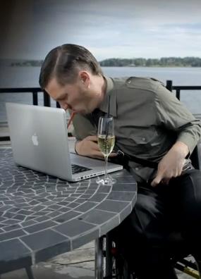 "Trygdekontoret's new character pokes fun at blogger ""Fjordman."""