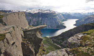 View of trolltunga in Hardanger, Norway.