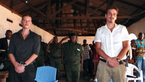 Moland and French in the courtroom in Kisangani, Dem. Rep. of the Congo. Photo: NRK
