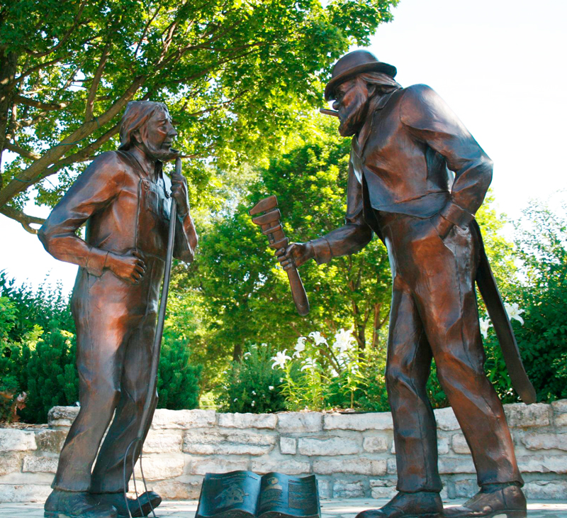 Photo: Johnathan Storlie / Giants of the Earth Heritage Center. Han Ola and Han Per sculptures in Viking Memorial Park in Spring Grove, Minn.