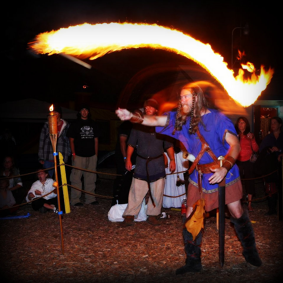 Vista Viking Fest Flaming Axes