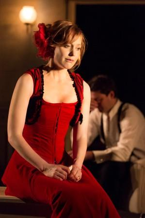 """Photo: Johan Persson Hattie Morahan as Ibsen's beleaguered housewife in the Young Vic's production of """"A Doll's House."""""""