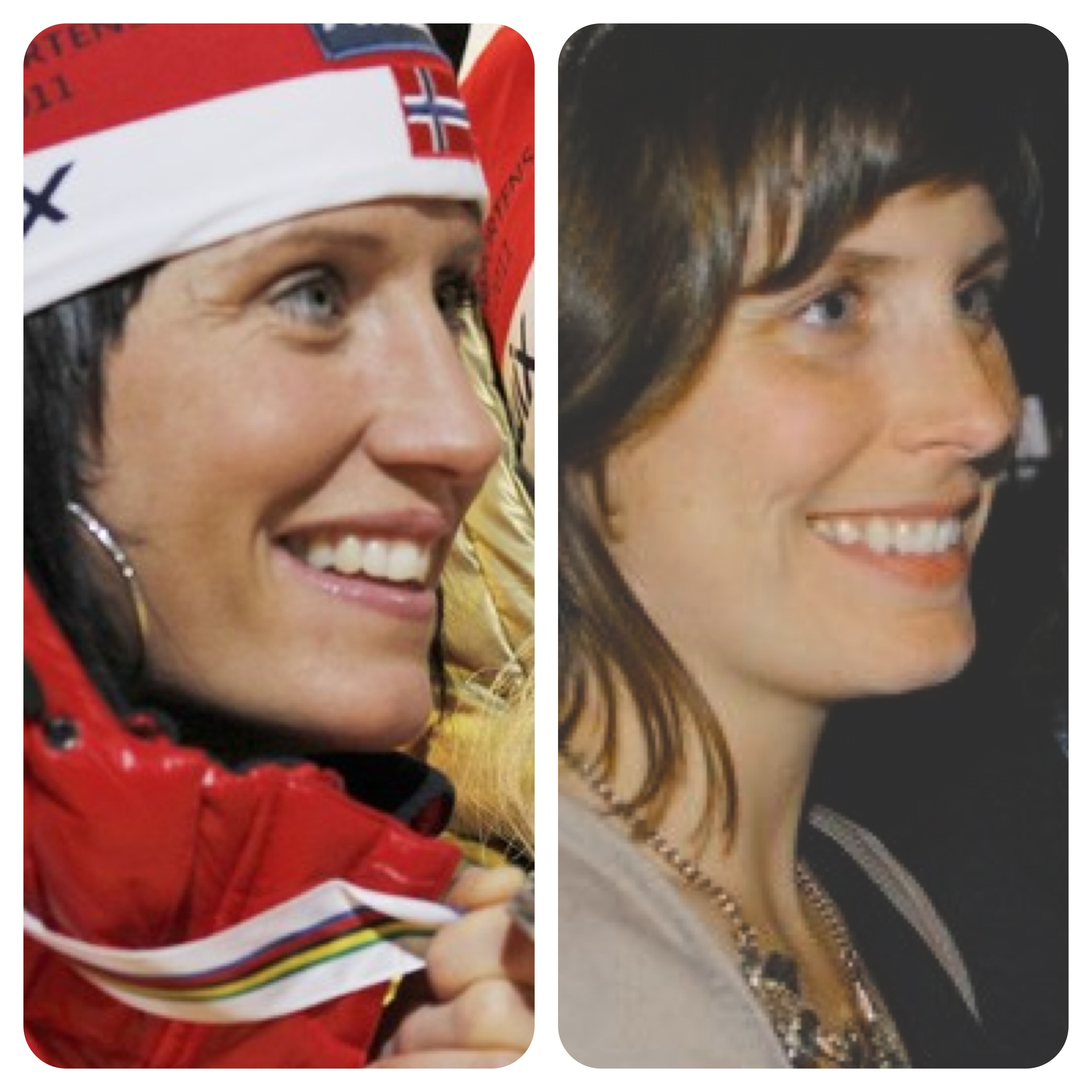 Photo courtesy of Jaffrey Bagge Which one is the real one? Bagge is flattered by comparisons to Marit Bjørgen, who won the gold medal in crosscountry skiathlon at the Sochi Olympics.