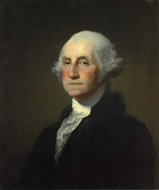Photo: Wikimedia Commons  Gilbert Stuart's famous portrait of George Washington. Was our first President Norwegian?