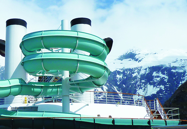 Photo: Darin Lietz Some of the cruise ships, with their waterslides and shuffleboard, look like they'd be more at home in the Caribbean than among the ice.