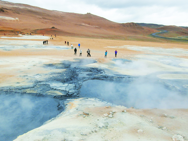 Photo: Shelby Gilje Namaskard in Myvatn is so unearthly that NASA sent its astronauts there to practice for their trip to the moon.