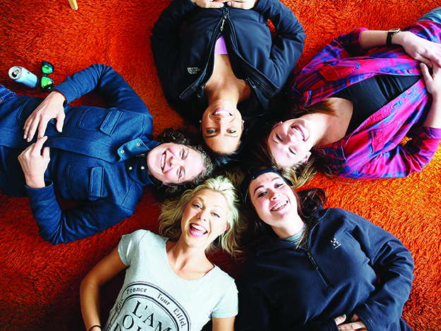 Photo courtesy TV Norge In the program, participants learn more about Norway and Norwegians in Oslo. Clockwise from top: Leah Perzichilli, Beth Butala, Candice Peters, Breyanne Nordtvedt, Marshell Moy.