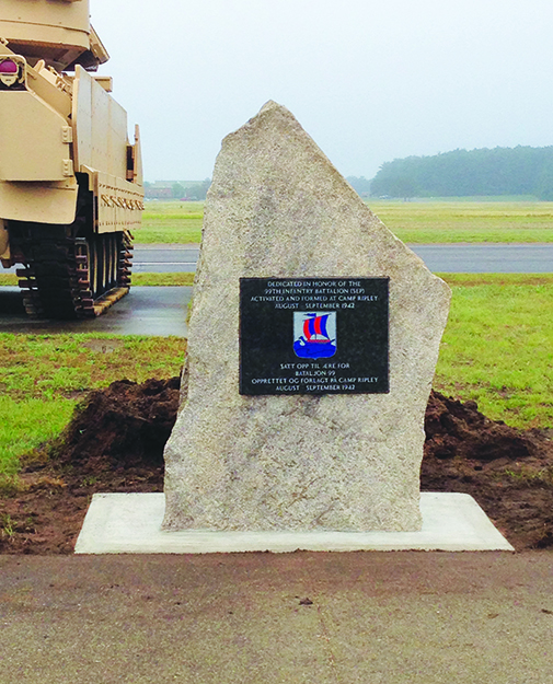 Photo courtesy of Erik Brun The memorial that will be unveiled and dedicated at Camp Ripley this weekend.