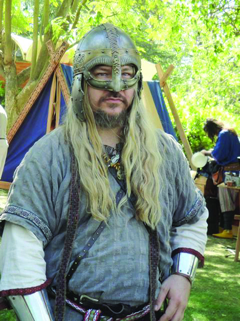 "Photo: Judith Gabriel Vinje Gregg Vaughn (""Grimnir Vainhair"") of the Ravens of Odin"