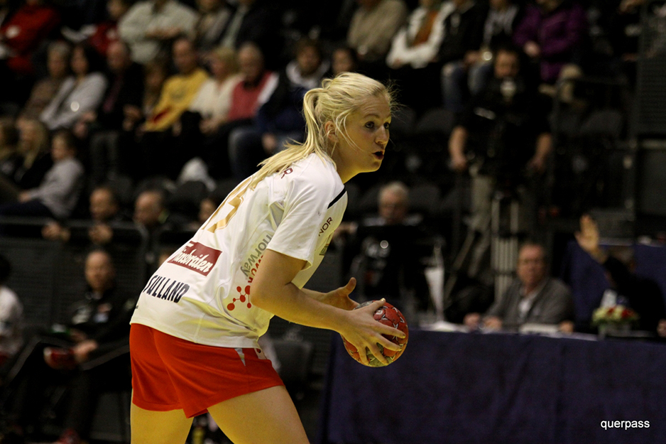 Photos: Inside Handball / Wikimedia Commons  Linn Jørum Sulland plays right back for top-rated Larvik.